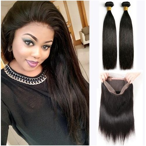 Brazillian 360 Human Hair Closure+ 2 Bundle Stw Human Hair