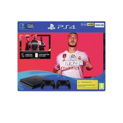 PS4 500GB CONSOLE (GAME) FIFA 20 With 2 CONTROLLER