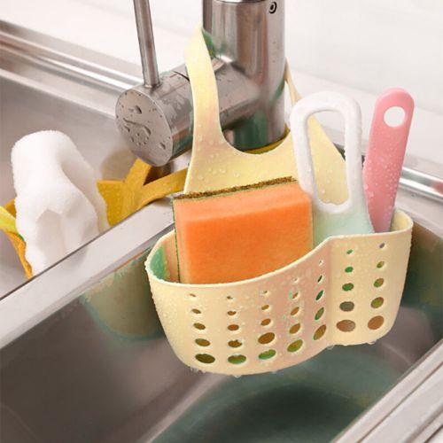 Haojks Portable Home Kitchen Hanging Bag Basket Bath Storage Tools Sink Holder