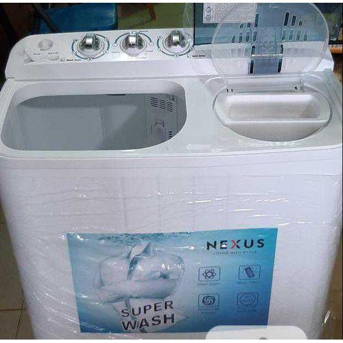 7KG Washing Machine Semi-Auto Twin-Tub - (Wash/Spin/Drain)