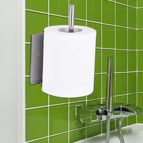 Stainless Steel Tissue Roll Paper Holder Vertical Bathroom Toilet Shelf Roll Paper Holders With Phone Shelf