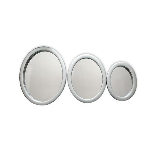 Wall Decor Circle Mirrors (3 Piece Set) - Silver