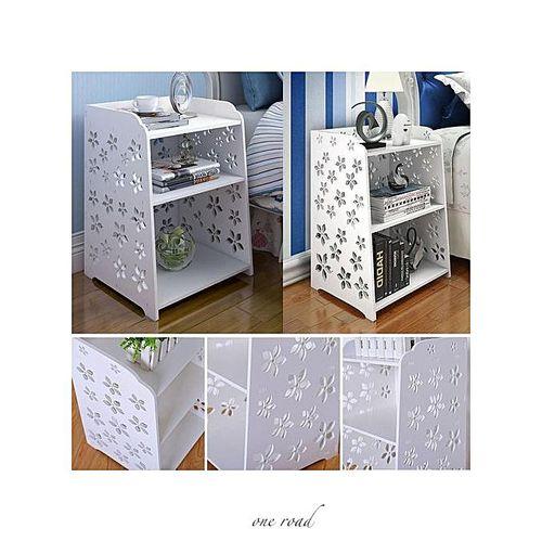 White Bedside Cabinet Finishing Frame 40X30X50Cm
