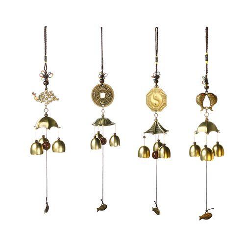 Copper Wind Chime Metal Wind-bell Pendant Door Decoration Pure Copper Bells Hanging Decoration Feng Shui Pendant Decor