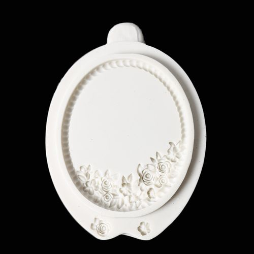 Vintage Flowers Mirror Photo Frame Silicone Mold Nonstick Cookies Chocolate Mould Kitchen DIY Baking Decorating Tools Bakeware