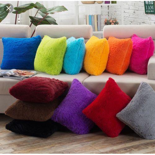 Grat Fur Throw Pillow Set (12 Pieces)