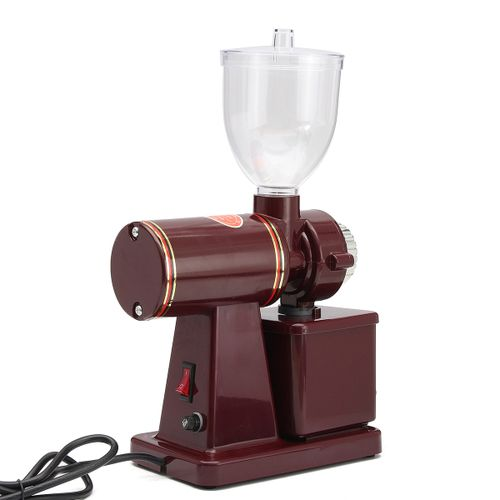 New 220V 100W Stainless Steel +Plastic Electric Espresso Coffee Bean Grinder Coarse Fine Grinding Mill Red