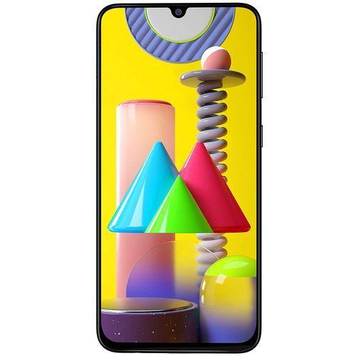 """Galaxy M31 (SM-M315F/DS) Dual SIM (128GB ROM, 6GB RAM)- 6.4""""- (64MP+8MP+5MP+5MP) + 32MP Camera- 6000mAh- Black."""