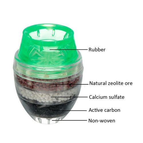 Kitchen 2Pcs Water Filter Tap Carbon