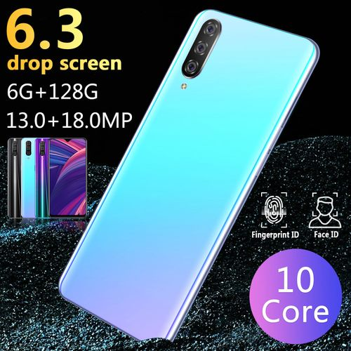 M9 6.3 Inch Drop Screen 6GB+128GB Android 9.1 Smartphone 10 Core 4800mAh Dual Card Dual Standby 13MP+18MP
