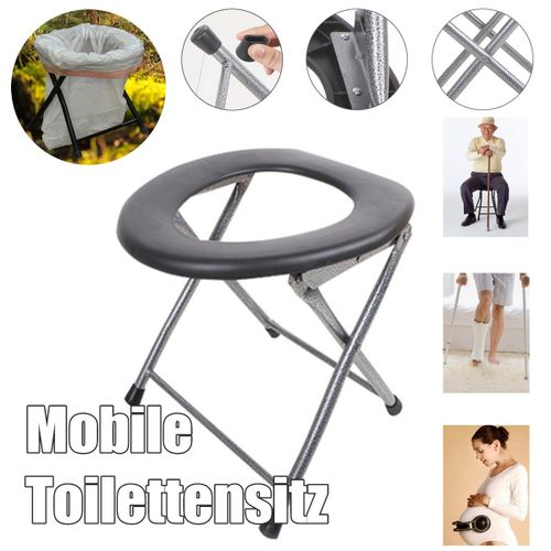 Portable Toilet Seat Chair Folding RV Travel Camping Boat Outdoor Tent Emergency