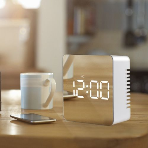 USB Electronic Desk Clocks Digital Clock LED Mirror Table Clock Wake Up Light Despertador For Office Bedroom Desktop Watch Time ( )