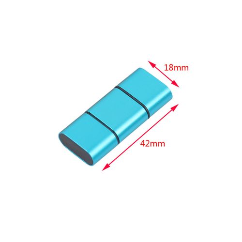 Muliawu Store OTG Type C To USB 2.0 Micro SD TF Card Reader Adapter For Android Phone BU-Blue