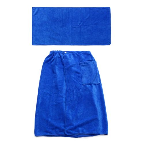 Men SPA Fast Drying Bath Towel Shower Body Beach Bathrobe Swim Blanket + Pocket