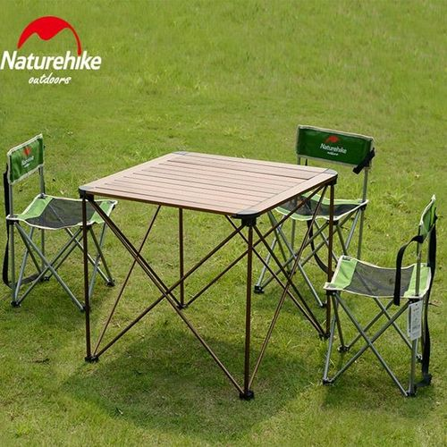 Folding Table Portable Plastic Auminum Indoor Outdoor Picnic Dining Camping Desk Sliver