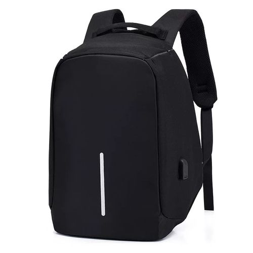 Anti Theft Travel Laptop Bag With USB Charging Port- Grey