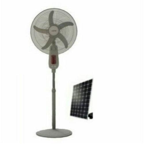 """18"""" Rechargeable Standing Fan + 20W Solar Panel"""