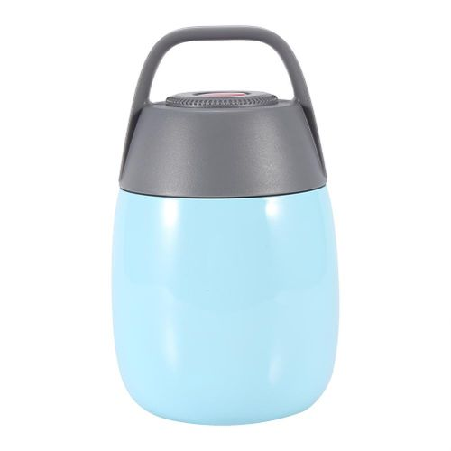Stainless Steel Vacuum Thermal Lunch Box Insulated Food Jar Flask Soup Container With Bag(Blue)
