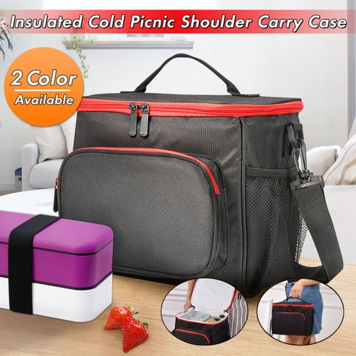 Insulated Thermal Cooler Lunch Box Carry Tote Work Picnic Case Storage Bag