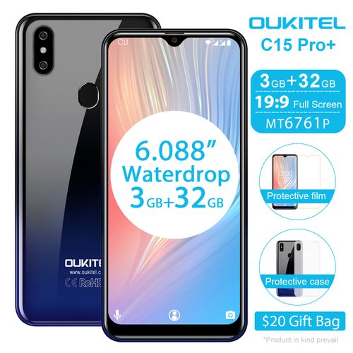 C15 Pro 6.1-Inch Android 9.0 Pie(3GB RAM 32GB ROM), 8.0MP + 2.0MP, 5.0MP Camera 3200mAh Battery 4G Smartphone-Fantastic