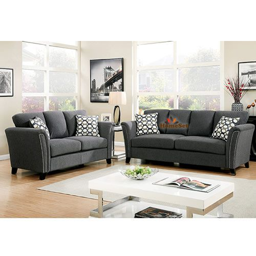 Hult Luxury Sofa Set Grey - 7 Seater