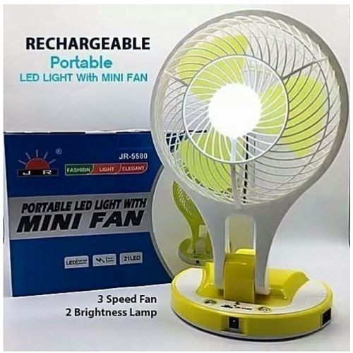 Rechargeable Portable Led Light With Mini Fan