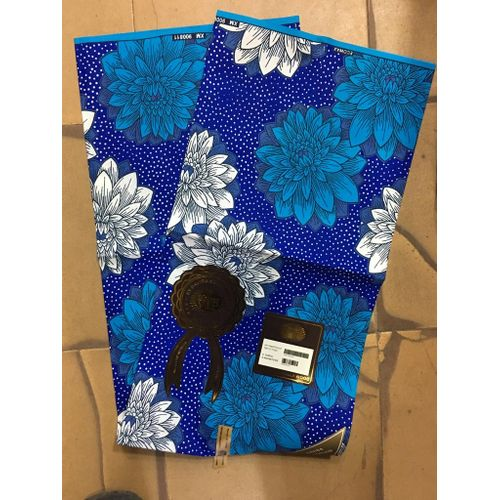 Ankara Print- Multicolour Blue, 6 Yards
