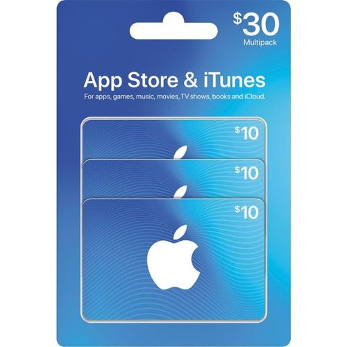 Apple ITunes 30 USD Apple Store Credit / Prepaid Card