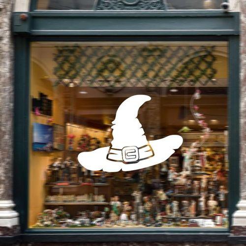 Halloween Witch Hat Sticker PVC Removable Wall Window Sticker Terror Halloween Decorations