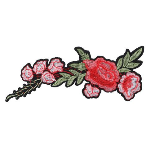 Rose Clothing Embroidered Patch DIY Decoration Iron Sew Sticker Applique Craft Accessories