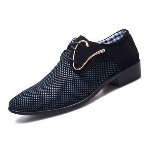 Men's Large Size Business Casual Formal Shoes-BLUE