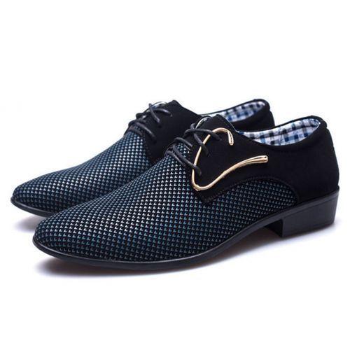 Men's Large Size Business Casual Formal Shoes-BLUE