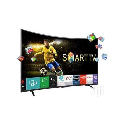 Polystar 39 Inches Curved Smart TV With Inbuilt NETFLIX + (Free Hanger Inside)