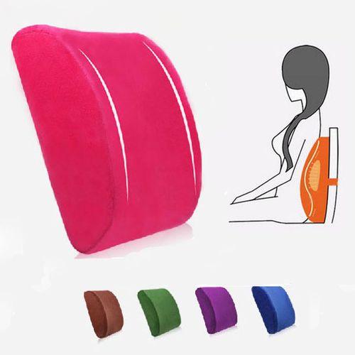 Elastic Band Plush Memory Office Chair Cushion Lumbar Back Pillow