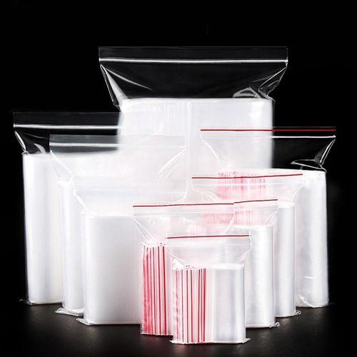 Benhongszy 100 Pcs Plastic Ziplock Bags Jewelry Small Ziplock Bag Food Packaging Zip Lock Bags Clear Fresh-keeping Dustproof Reclosable