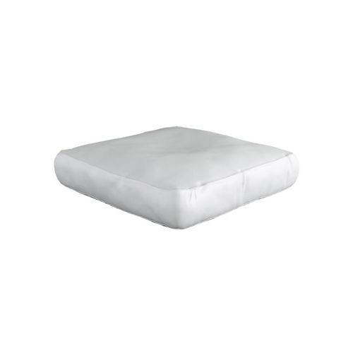 Spikkle Square Bean Bag Leather Chair - White
