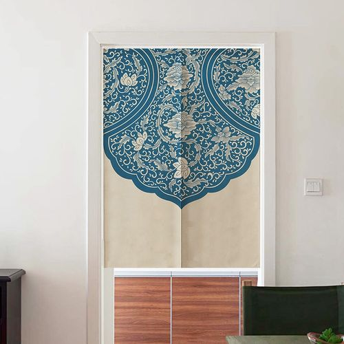 "Japanese Curtains,Japanese Noren Doorway Curtain/Tapestry 33.5"" Width X 47.2"" Long, Bedroom Kitchen Blackout Curtains,Blue And White Porcelain"