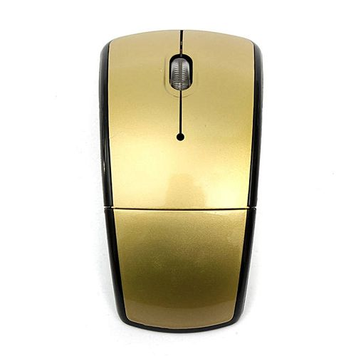 Nice 2.4GHz Wireless Arc Foldable Folding Mouse/Mice + USB 2.0 Receiver For PC Laptop Gold