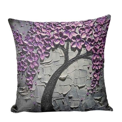 Houseworkhu Print Sofa Bed Home Decoration Festival Pillow Case Cushion Cover - Beige