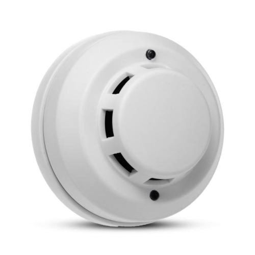 Wireless Fire Smoke Detector Alarm System White