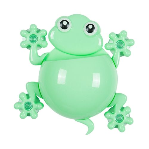 DIY Frog Wall Tooth Brush Cup Toothpaste Holder Hanger Home Bath Tool (Green)