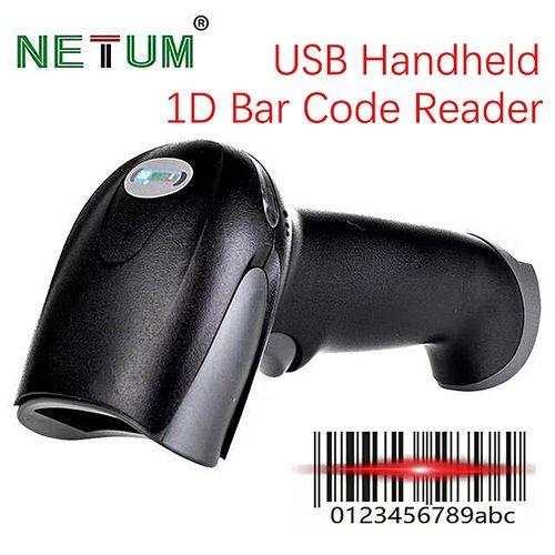 F5 1D USB Wired BarCode Scanner Laser Reader Handheld