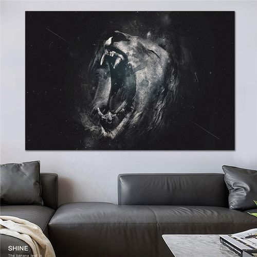 Black And White Nordic Canvas Wall Art Painting Lion Animal Canvas Posters Prints Modern Living Room Cuadros Decoration Picture