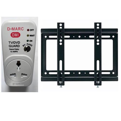 14-42 Inches LED/LCD TV Wall Hanger/Bracket + D-marc Universal TV Guard Surge Adapter