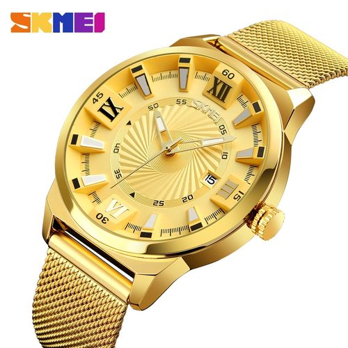 product_image_name-Skmei-Men's Waterproof Quartz Wristwatch - Gold-1