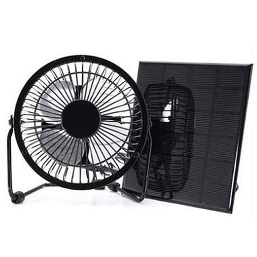 3W 12V Mini Solar Panel Plus Fan & 5port Cables