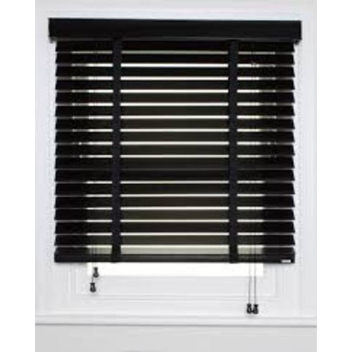 Wooden Window Blinds - Black (Prepaid Only)