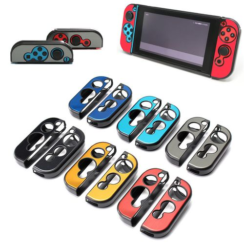 1 Pair Anti-slip Aluminum Mult-color Hard Case Shell Cover Protector For Nintendo Switch Grip Joy-Con Controller Protective Case