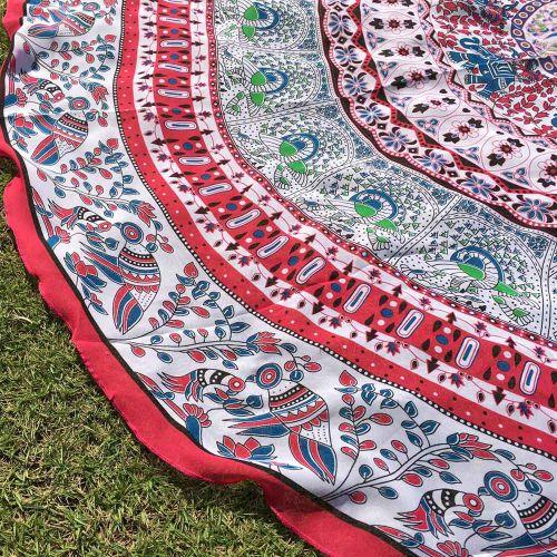 Round Bohemian Hippie Tapestry Beach Picnic Throw Yoga Mat Towel Blanket