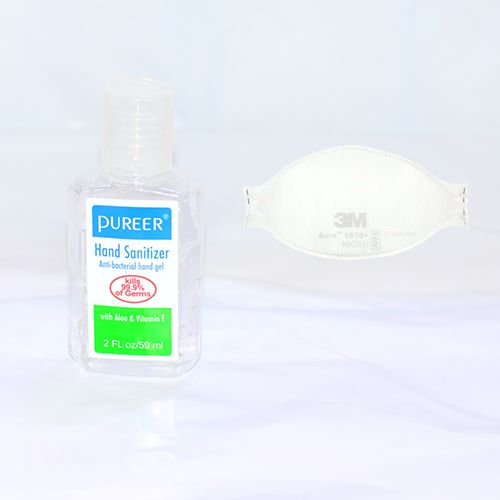Hygiene Starter Pack (3M Nose Mask + Pureer Hand Sanitizer)